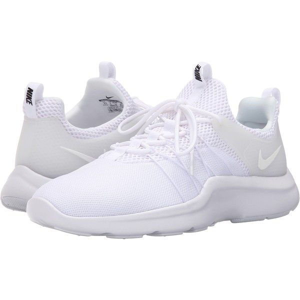 0cab566974f Nike Darwin (White Black White) Women s Running Shoes ( 56) ❤ liked on  Polyvore featuring shoes