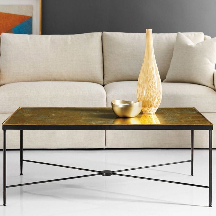 Modern History Wrought Iron Cocktail Table Iron Coffee Table