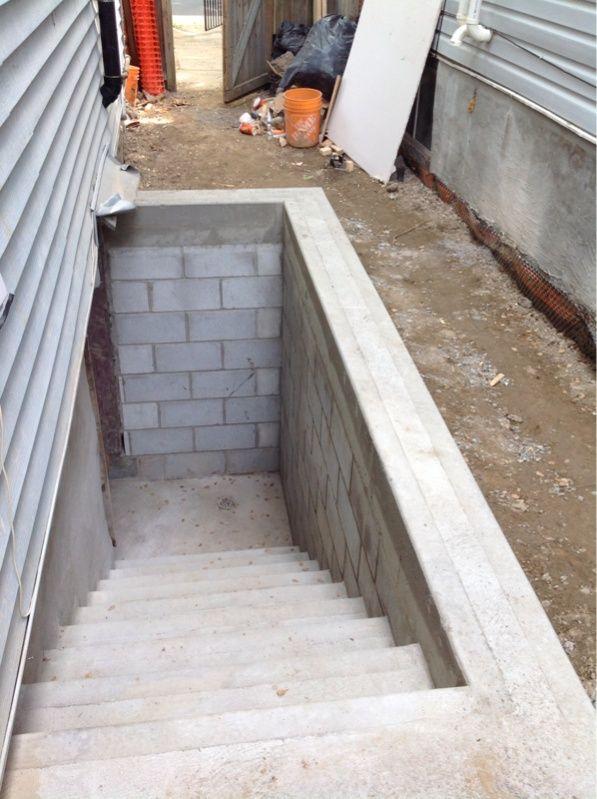 Basement Apartment Separate Entrance Basement Stairs Exterior | Bilco Precast Basement Stairs | Walkout Basement | Egress | Basement Entry | Precast Concrete Steps | Basement Entrance