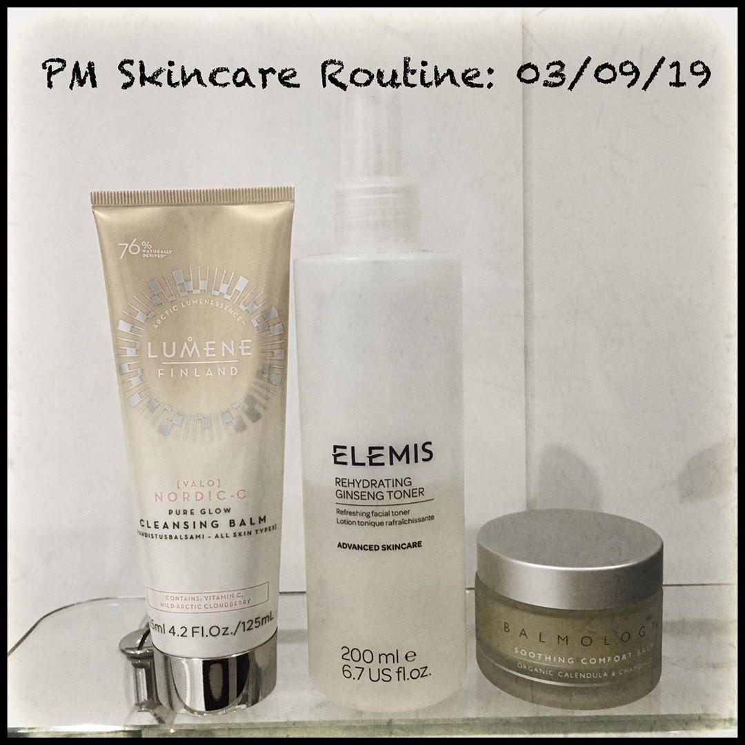 latergram PM Skincare Routine 03/09/19 1️⃣ lumene_uk