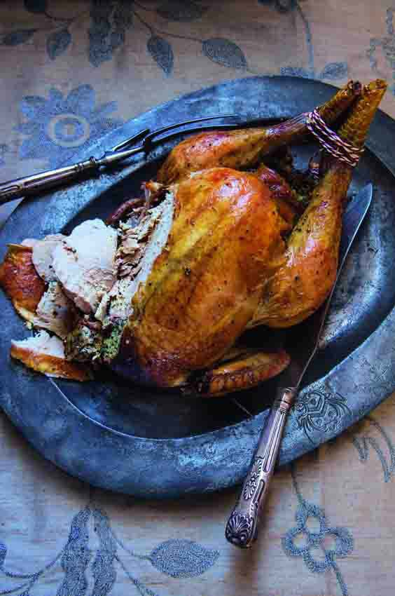 Photo of Roast capon with forcemeat stuffing