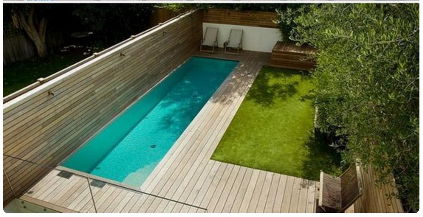 Pin de judith en jard pinterest piscinas terrazas y for Pileta jardin pequeno