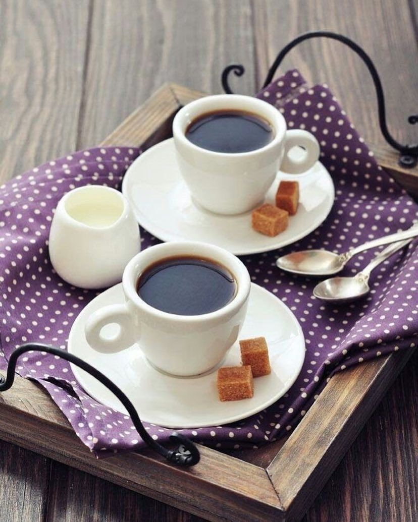 Coffee for Two, my kind of Morning ️ Good morning coffee