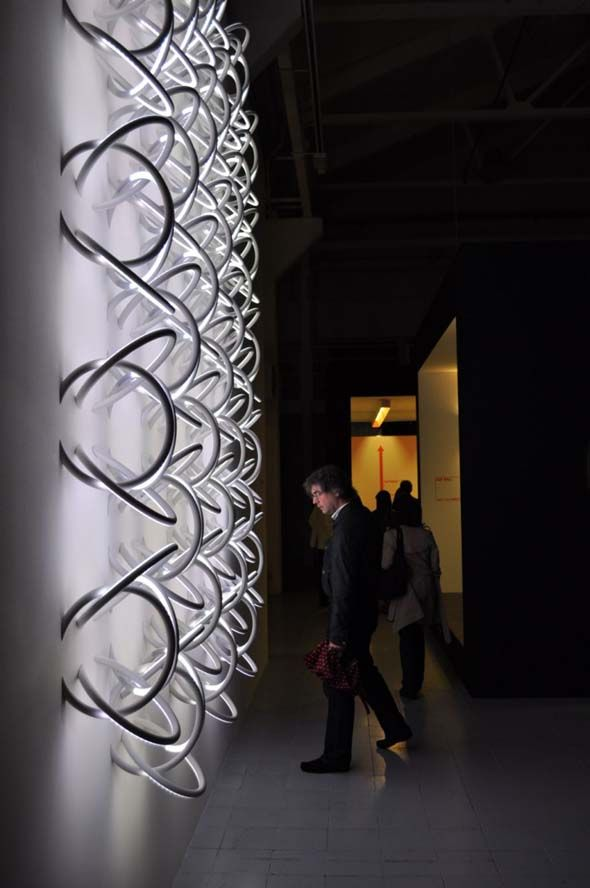 Wall Piercing Light Design By Ron Gilad For Italian