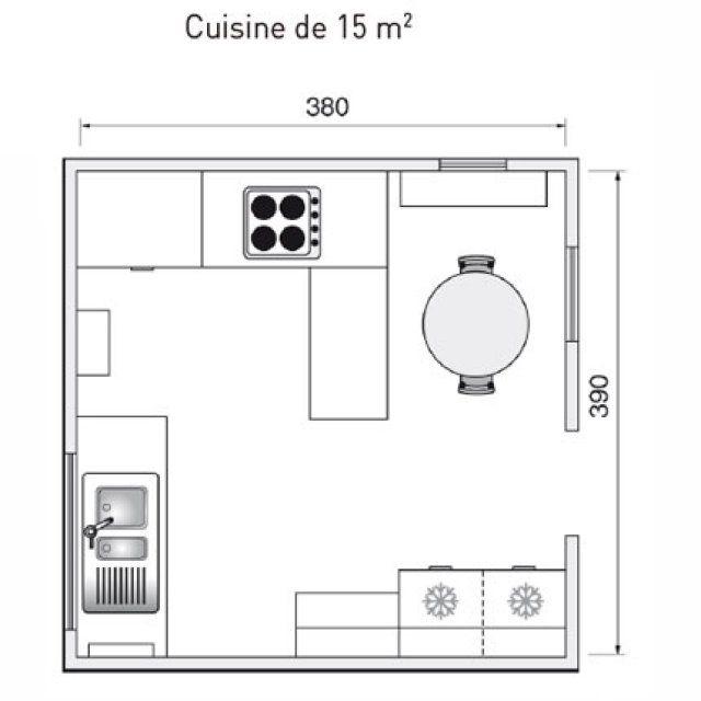 Plan de cuisine : l\'aménager de 1m2 à 32m2