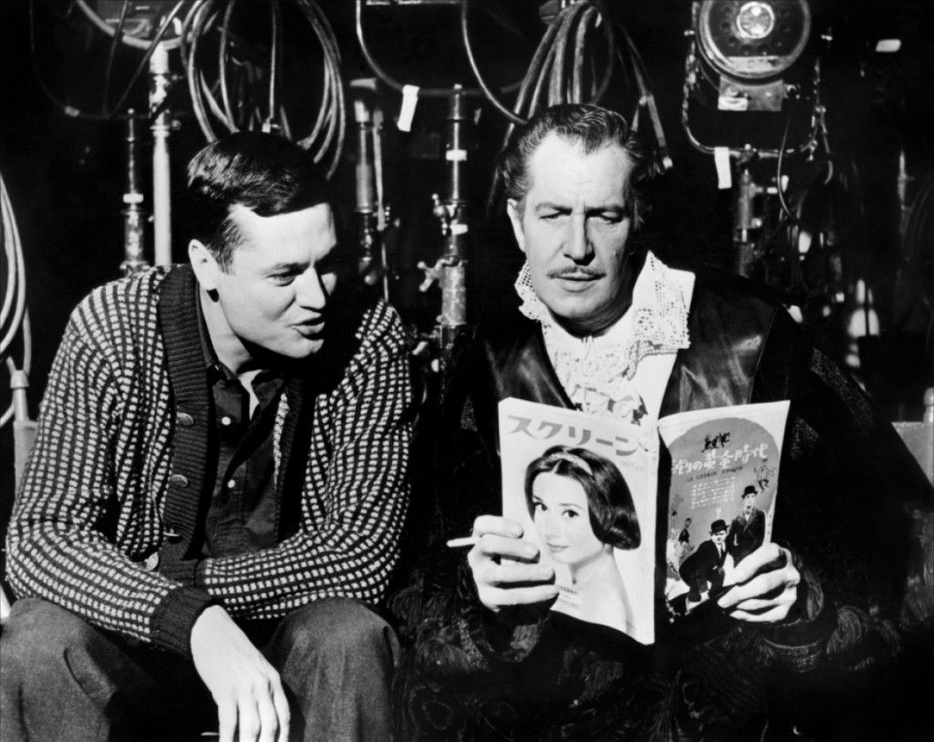 citizenscreen: On the set of HOUSE OF USHER (1960) director Roger Corman and Vincent Price