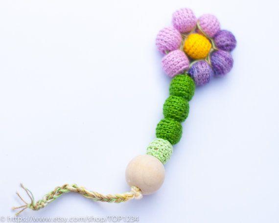 Waldorf Baby Teething toy / Wooden Teething Toy / door TOP1234