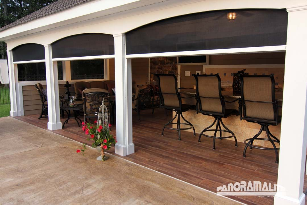 Retractable Screens For Patio Lanai Stoett Industries Home House Design Covered Patio