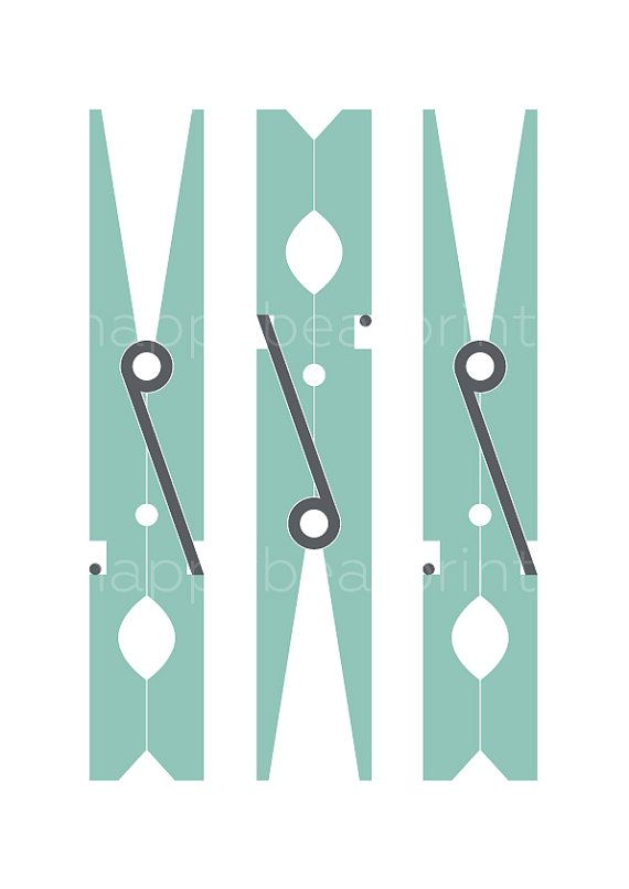 Turquoise Clothespin Print Wall Print Wall Art by happybearprints  sc 1 st  Pinterest & Turquoise Clothespin Print Wall Print Wall Art by happybearprints ...