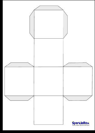 Blank dice template free download print onto card stock for Sparklebox postcard template