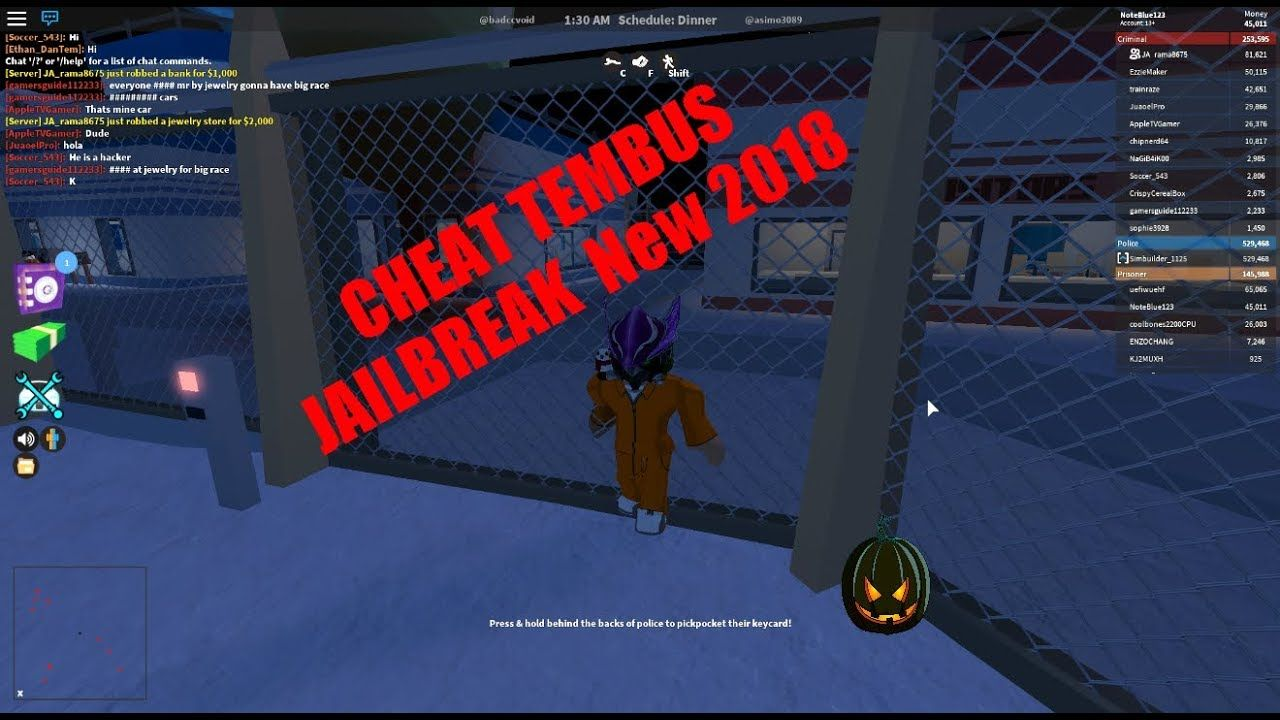 Cara Cheat Tembus Roblox Jailbreak 2018 New