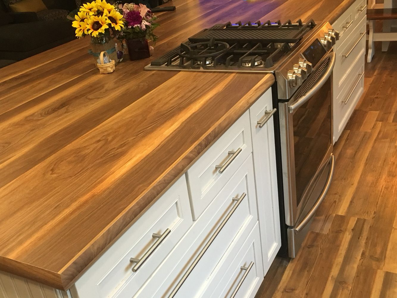 My Dream Kitchen Formica Wide Plan Walnut Countertop Karndean