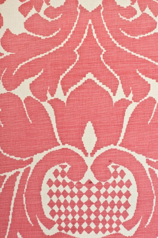 French Damask Upholstery Fabric Pink From Bernard Thorp In Cotton