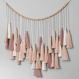 Oversized Tassel Garland -   12 room decor Rustic pottery barn ideas