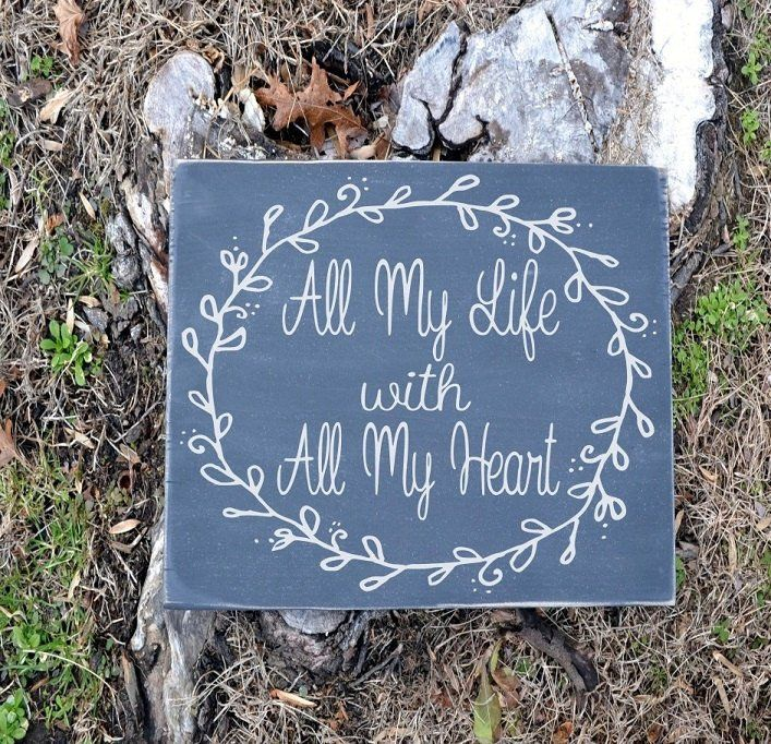 Chalkboard Wedding Sign PAINTED Rustic Wooden Signage All