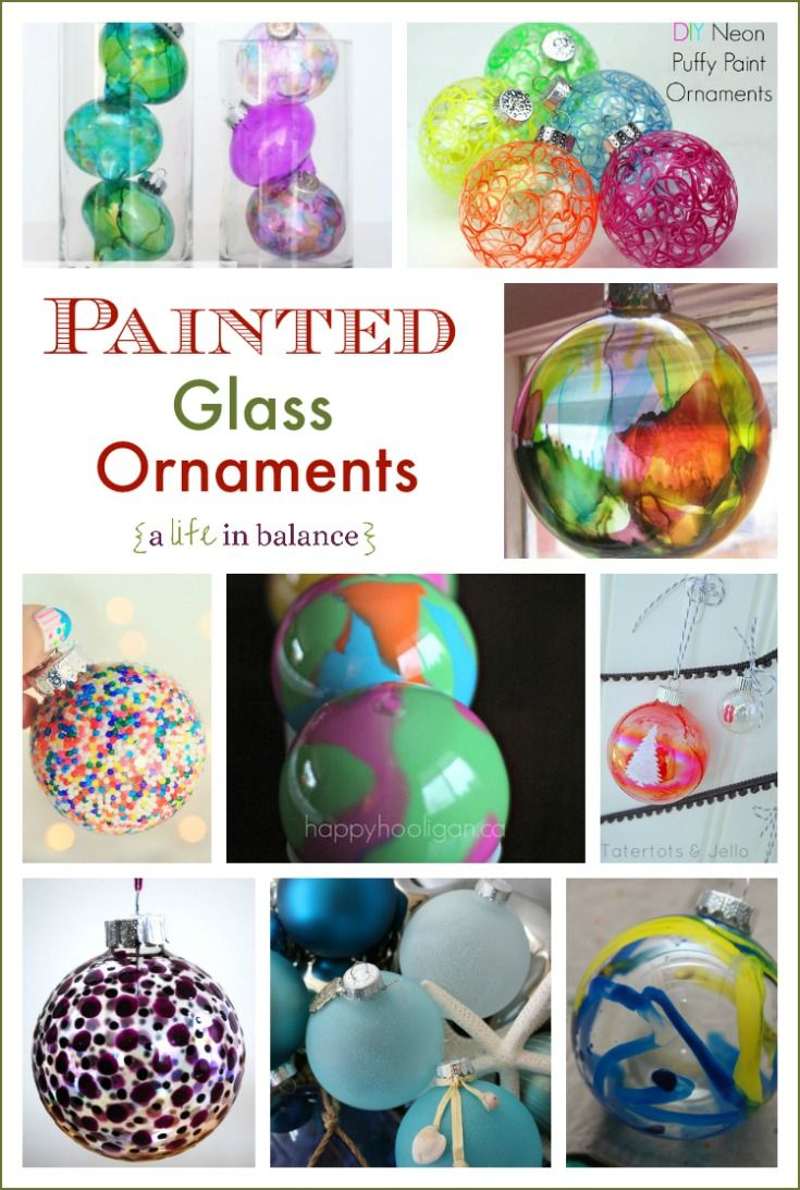 Painted Glass Ornaments for Christmas   Christmas ...