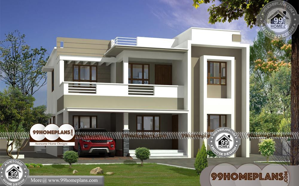 Cheap Home Floor Plans With Indian Two Story House Designs Having 2 Floor 4 Total Bedroom 4 Total House Arch Design House Balcony Design Kerala House Design