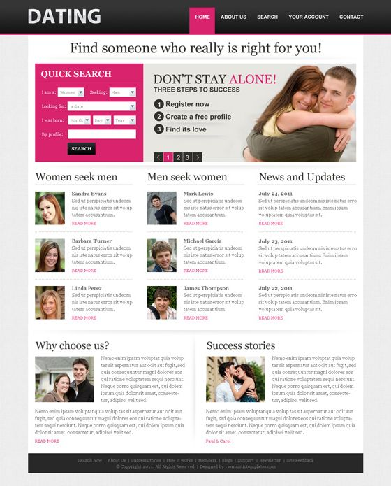 Online dating template profiel