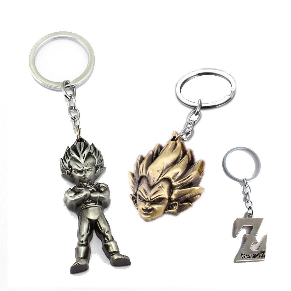 DragonBall Z Son Goku Metal Key Chain Key Ring Pendant Fashion Cosplay Keyrings