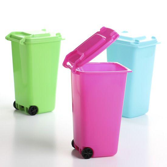 mini trash cans for party favors mini desk size trash dumpster rh pinterest com mini desk trash can Mini Trash Cans for Party Favors