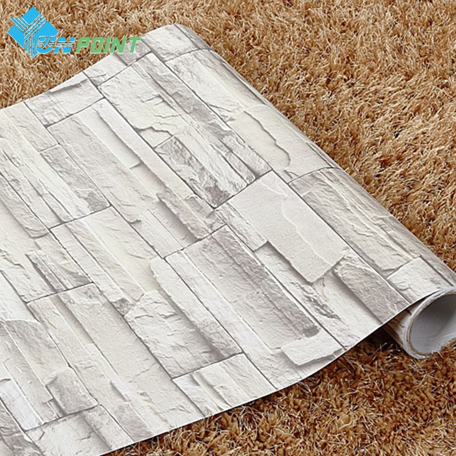60cmX10m New Classical Brick Pattern Wall Paper Rolls Coffee House Vinyl  PVC Self Adhesive Wallpaper For