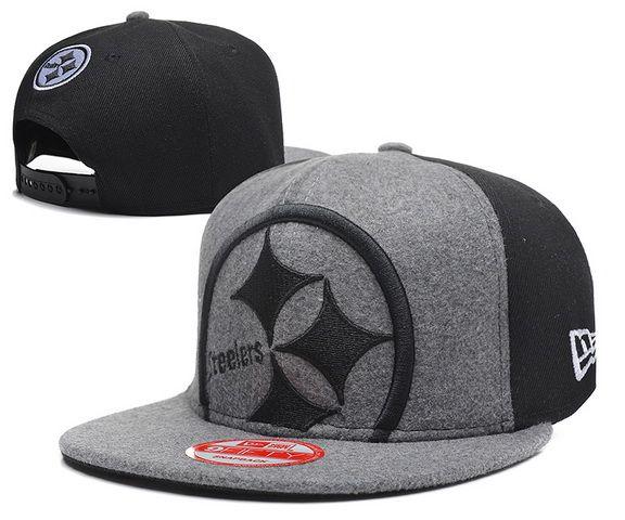 Cheap Pittsburgh Steelers Snapback Hats Plush Shell Fabric Grey ... 170f0b831