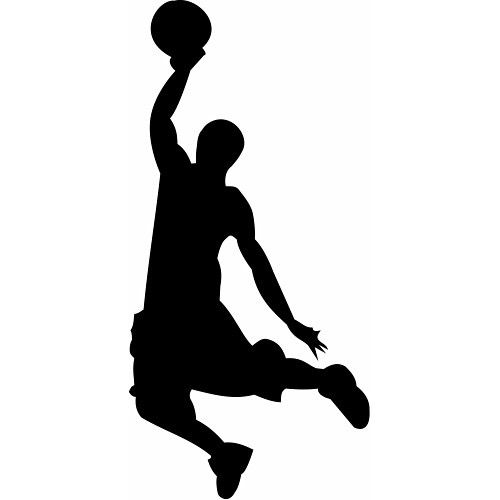 Pin By On Basketball Basketball Silhouette Silhouette Basketball Clipart