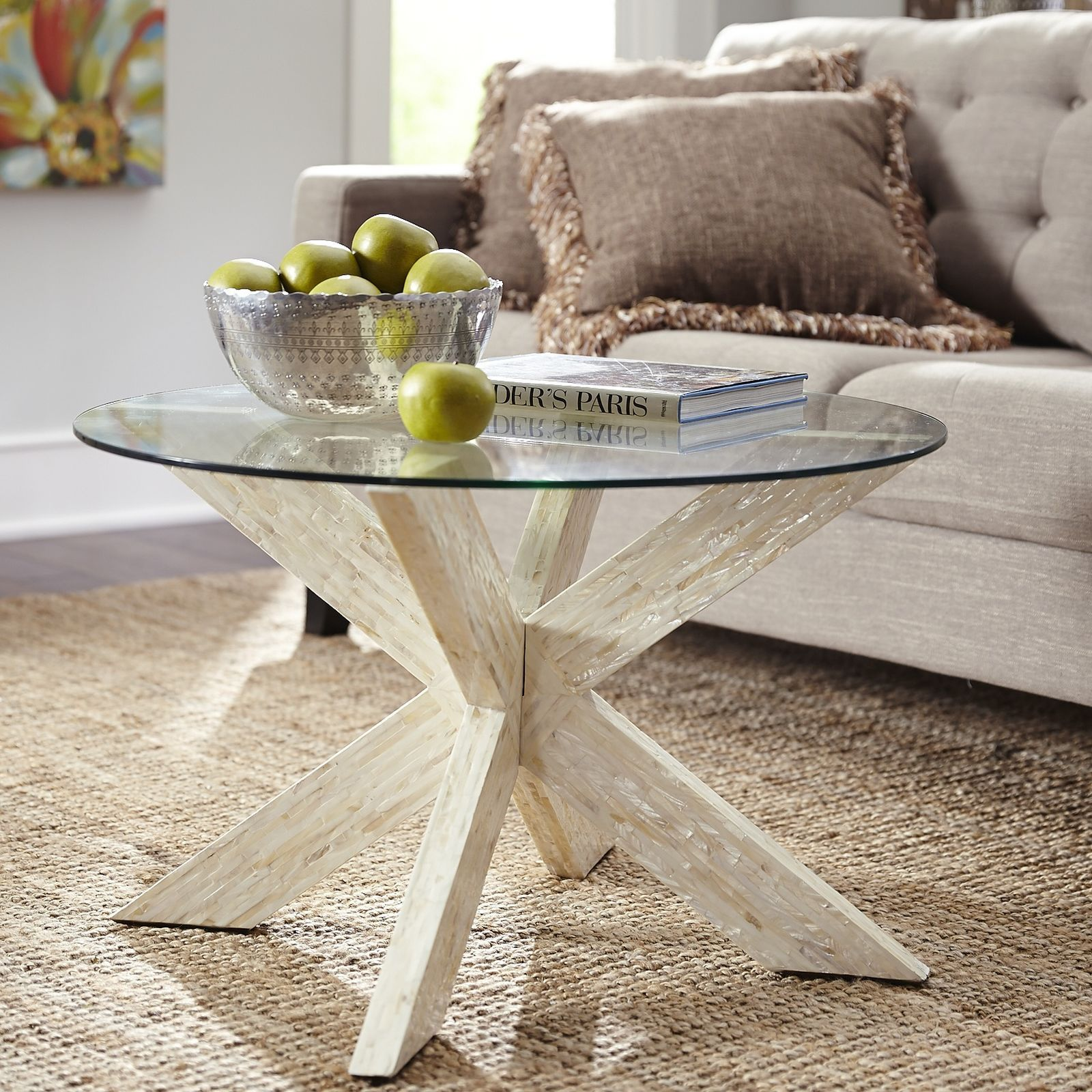 Simon Mother Of Pearl X Coffee Table Base Coffee Table Base X
