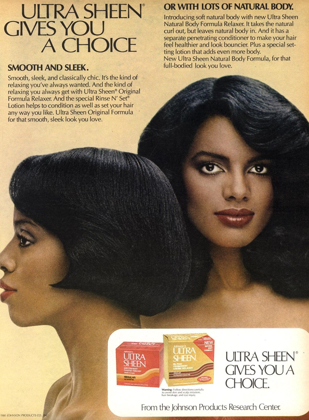 Ultra Sheen Ad Curly hair styles naturally