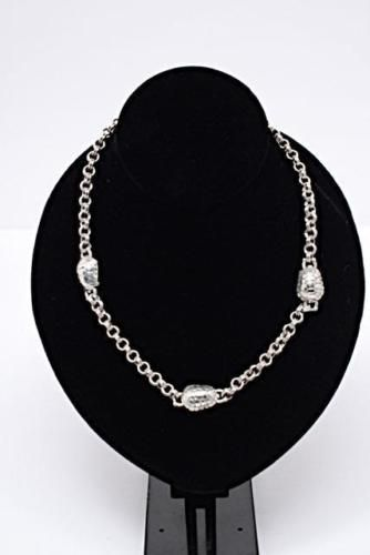 Kieselstein-Cord-Sterling-Silver-Turtle-Double-Circle-Link-Chain-Necklace-67-gr