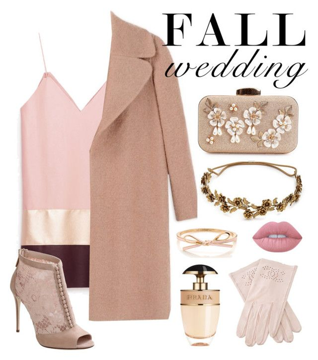 """Invited to a wedding"" by jus-dorange ❤ liked on Polyvore featuring Rochas, Dolce&Gabbana, Jennifer Behr, Prada, Lime Crime and Chanel"