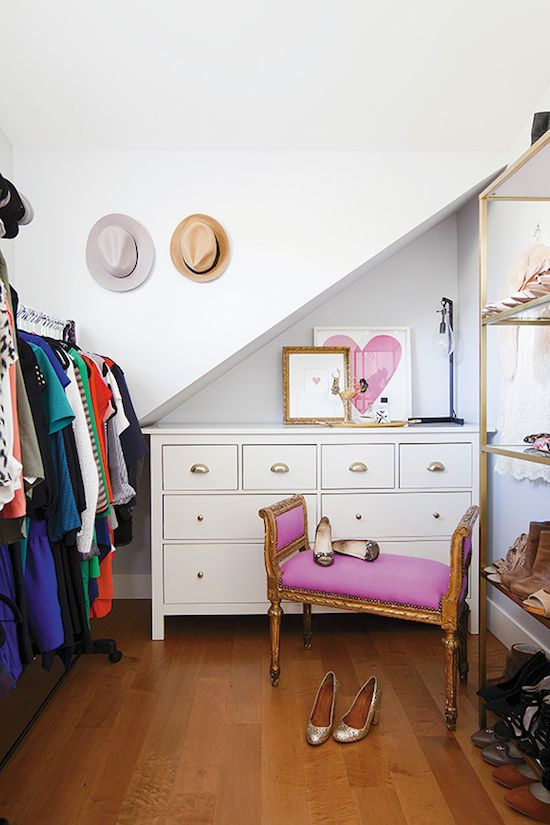 Simple and chic closet! Designed by Jillian Harris.