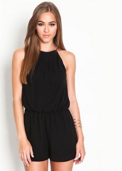 Black Short Jumpsuit   Women clothing   Short jumpsuit
