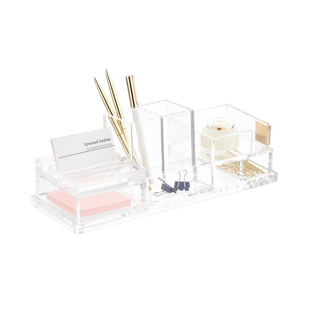 Russell Hazel Acrylic Bloc Collection System Acrylic Desk