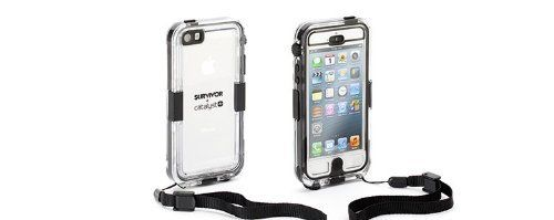 Griffin GB35562 Survivor Waterproof and Catalyst for iPhone 5 - Retail Packaging - Black (685387360086) Waterproof to 9.8 feet (3 meters). Ruggedized where it counts: edges and corners . P68 rating against water incursion, to 9.8 feet (3 meters).