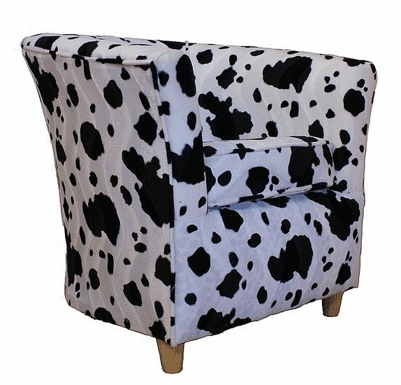 zebra print upholstery fabric tub chair design | Tub Chair Fabric Bucket Animal Print Chair Black Cow ...