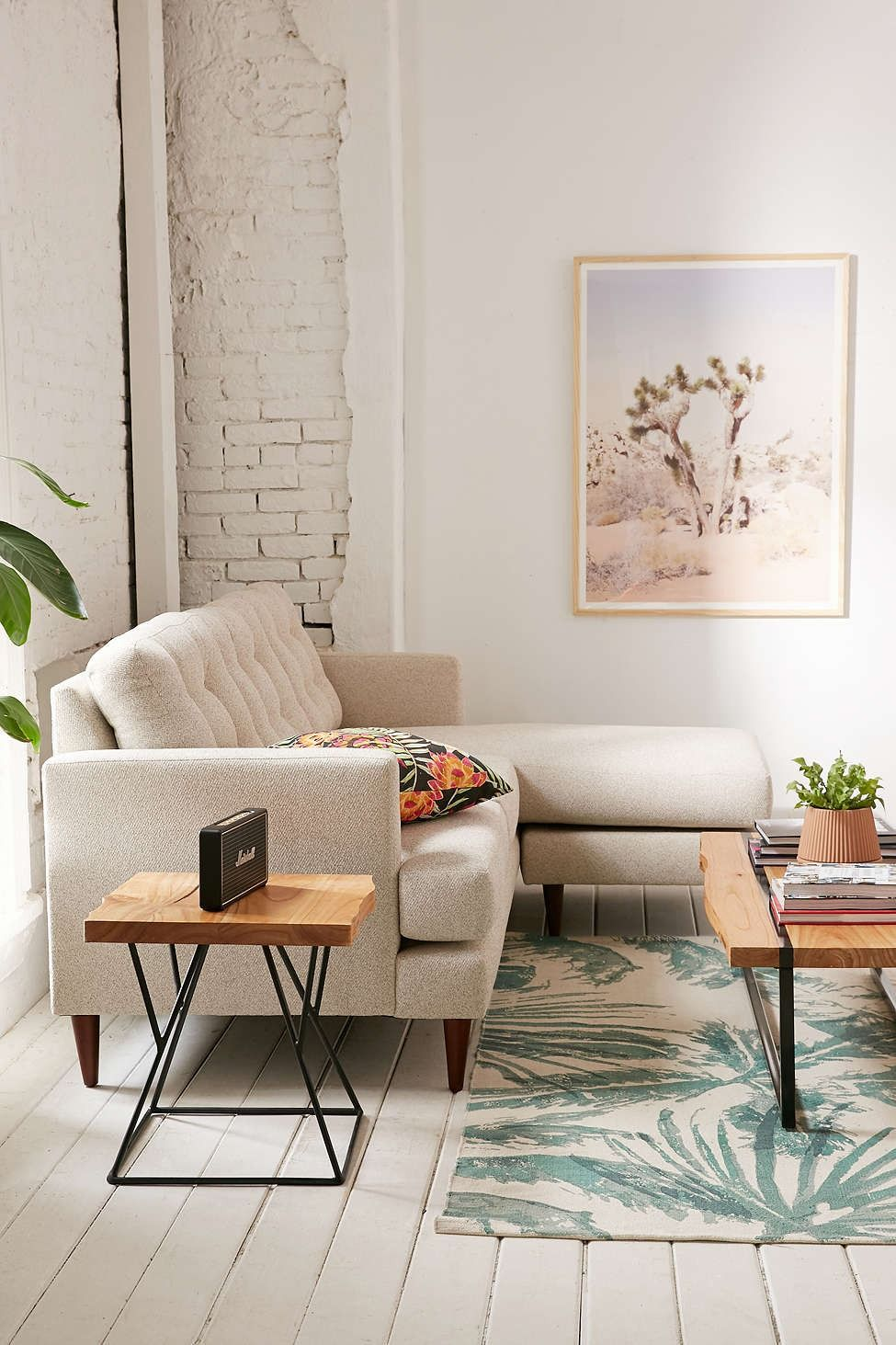 fletcher sectional sofa - urban outfitters | #uohome | pinterest