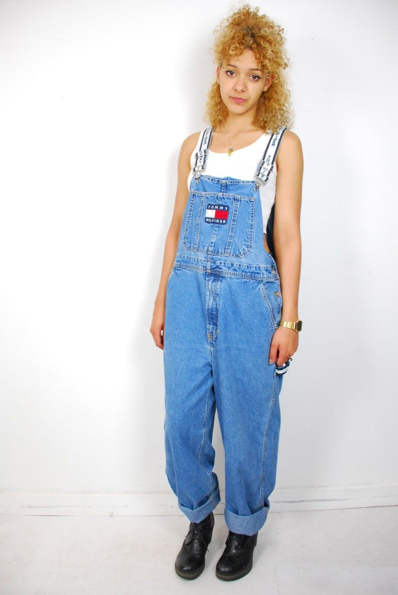 3b65ffa6330 Retro Tommy Hilfiger overalls. I had these and loved them ...
