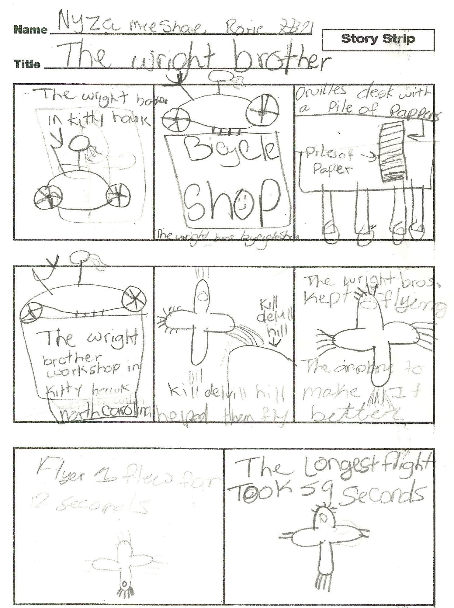 Wright Brothers Reading Worksheet