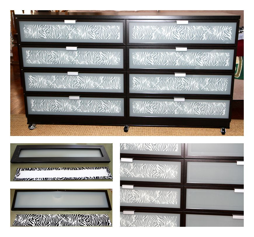 My Ikea Hopen Dresser Hack Cut From Poster Board Pieces The Size Of