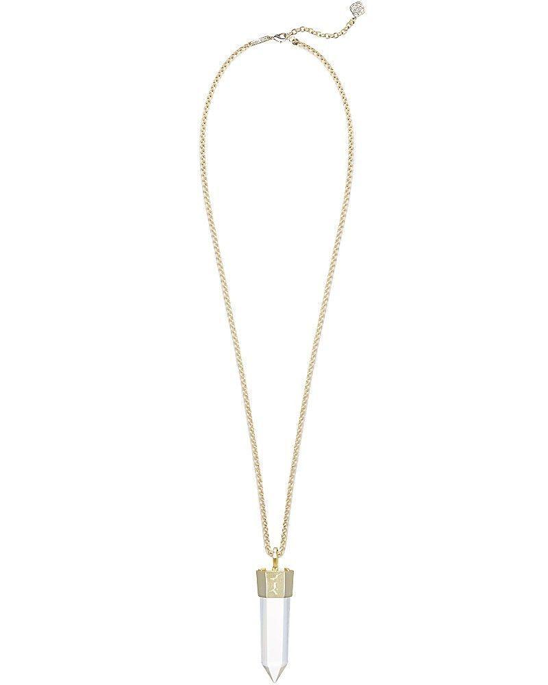 Kendra scott jayce long necklace in rock crystal long