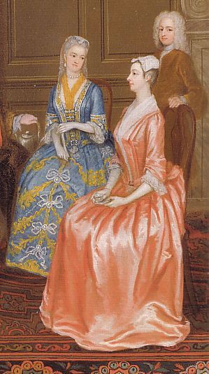"""Photo of A Tea Party at Lord Harrington's (detail)  Date1730  """"A rig…"""