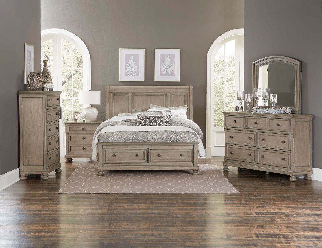 Homelegance Grey Cumberland II Collection King Size Platform Bedroom ...