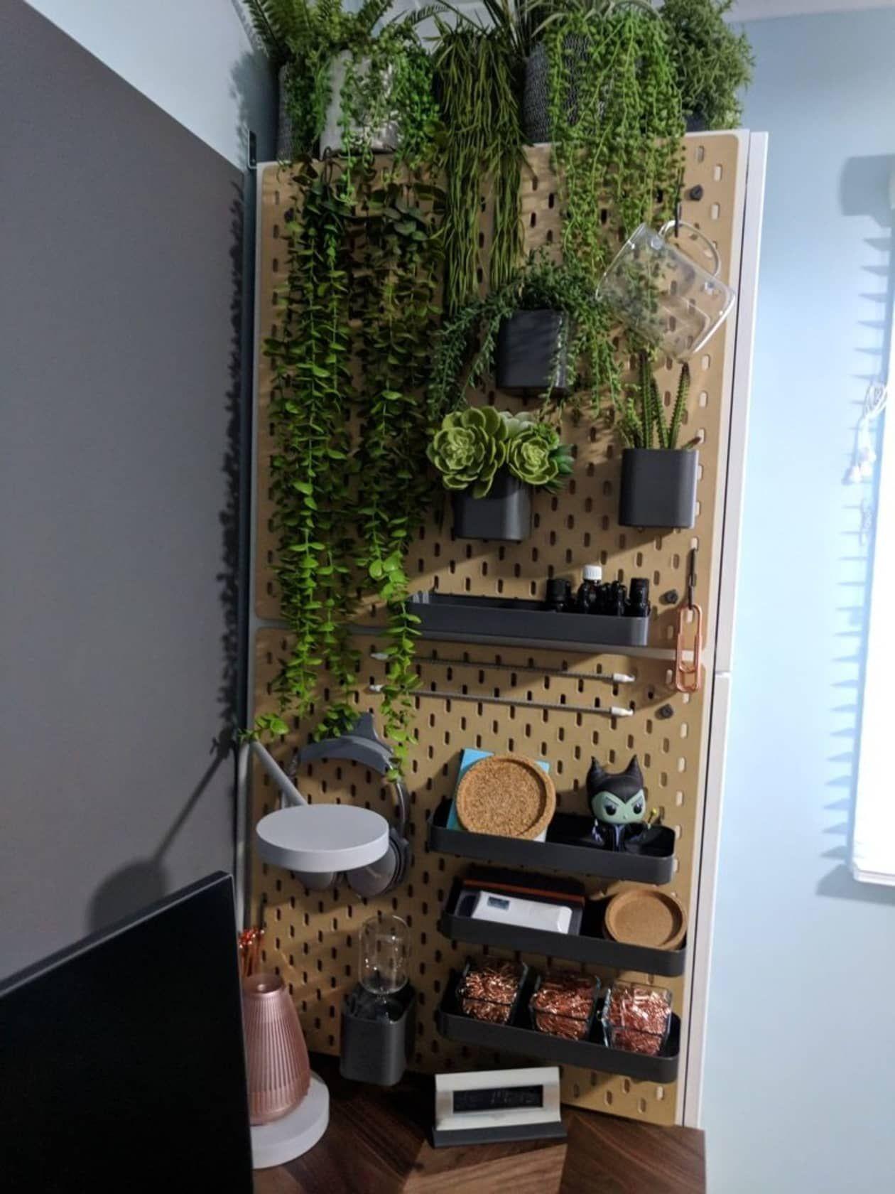 Smart Uses For Ikea S Skadis Organizer Apartment Therapy Vertical Garden Peg Board