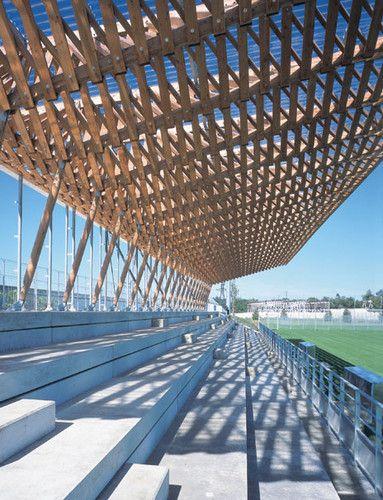 Grandstand Designs : Grandstand roof nanterre france barthélémy griño