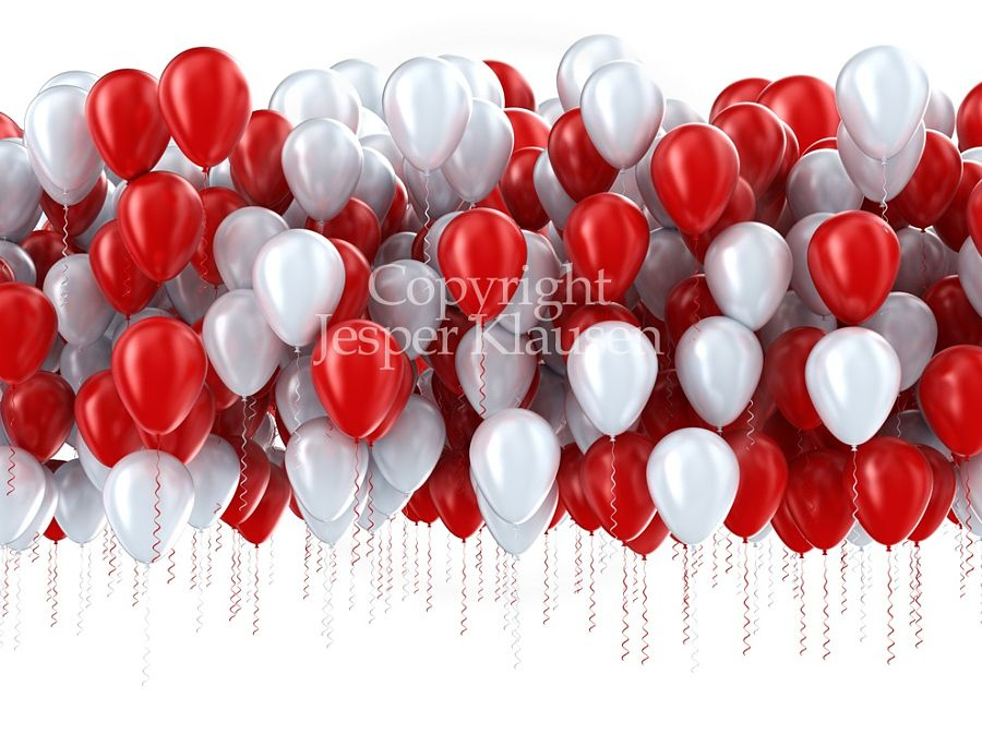 Red and white party balloons by Jesper  Hilding Klausen - Photo 90403437 - 500px