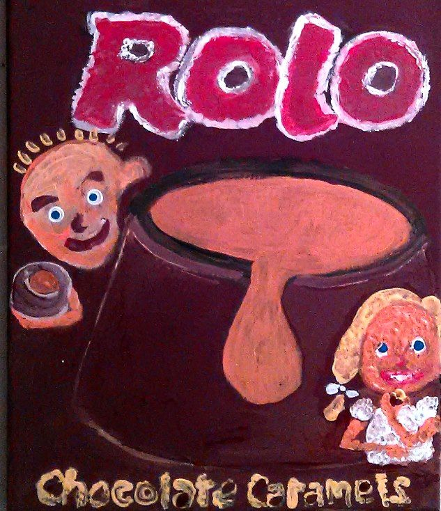 ROLO mock ad acrlic on canvas Gregory McLaughlin whateverway@comcast.net $80.00 + shipping purchase via Paypal