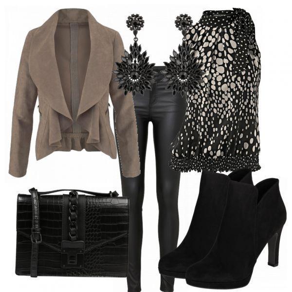 Winter outfits: Outgoing WomenOutfits.com ___ Blazers elegant look, top you ...   #blazers #Damen-Ou...