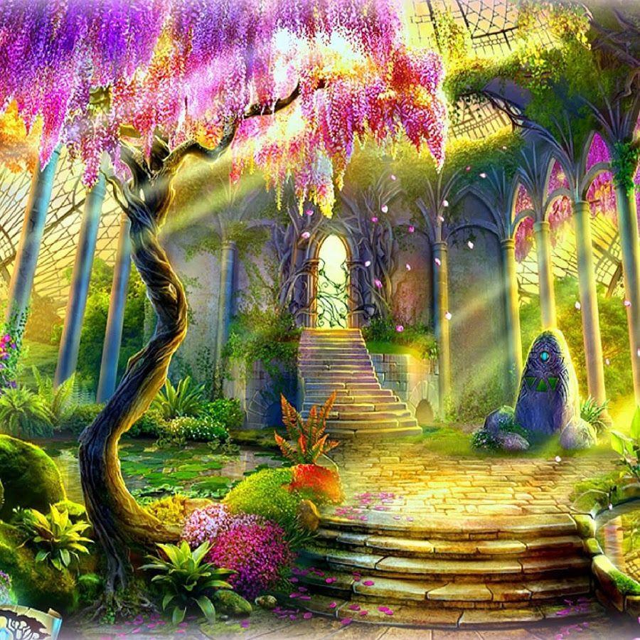 ведьма рисунок волшебный сад длинными