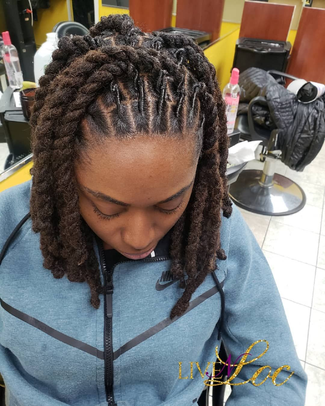 Follow The Link In My Bio To Book Your Next Appt Teamlocs Ropetwist Teamdreads Locsrus Brookly Dreadlock Hairstyles Black Hair Styles Locs Hairstyles